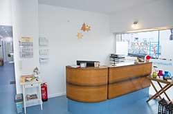Empfangsbereich Skoliose Therapie Zentrum Unna